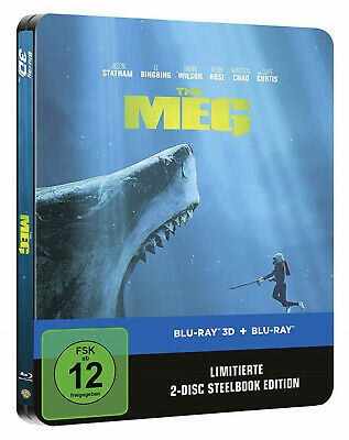 Meg 3D - Limited Steelbook Edition (Blu-ray 3D+2D) NEU&OVP