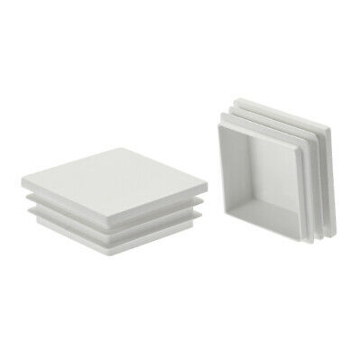 20Pcs 50x50mm Plastic Tubing Plug Square for Handrail Stair Guardrail Tube White