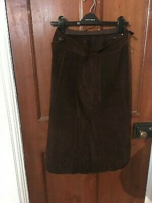 Vintage suede skirt size 10-12  - (check measurements). used good condition