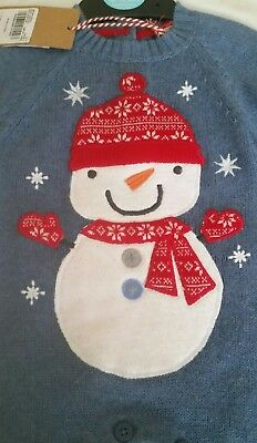 Christmas Snowman All In One Bodysuit Outfit Upto 3 Months.100% Cotton. Bnwt