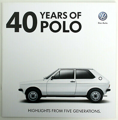 """""""40 Years of VW Polo"""" 1975-2015 - Brochure orig. from VW 2015, 40 pages"""