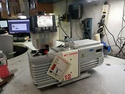 Edwards Rv12 Two Stage Rotary Vane Vacuum Pump 120/240 Vac 1 Phase W/Mist Filter