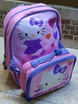 dd432019b Hello Kitty Preschool Toddler Backpack Lunch Box Set Sanrio Preowned-Has  Stains