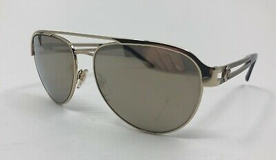 929affee4f Versace MOD 2165 1252 5A Aviator Pale Gold Brown Mirror Sunglasses 58-15
