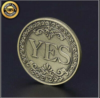 Floral YES NO Letter Ornaments Collection Arts Gifts Souvenir Commemorative Coin
