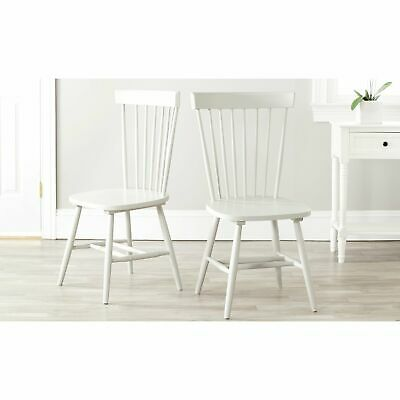Safavieh Dining Country Lifestyle Spindle Back Off White Dining Chairs (Set of