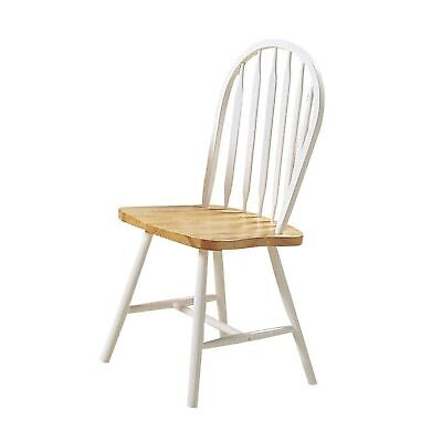 Wooden Dining Side Chairs With Classic Spindle Windsor Style Back, (Set of 4)