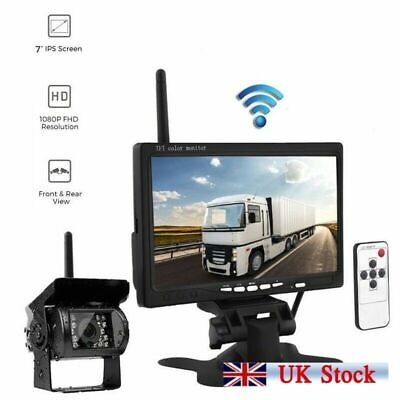 "12-24V 7"" LCD Monitor + Car Truck Bus Van Rear View Reversing Camera Parking Set"
