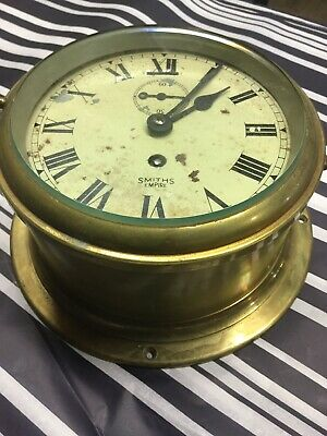 Old Smiths Heavy  Brass Clock- Nice Quality For Repair