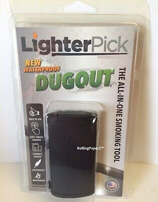 New! BLACK LIGHTERPICK Tobacco Dugout Smoking System - Water Tight & Smell Proof
