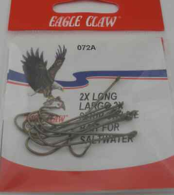 Eagle Claw 72a #1 10ct Extra Lang Messing Haken
