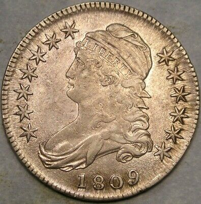 1809 Capped Bust Lettered Edge Silver Half Dollar Appealing Beautiful Bold Sharp