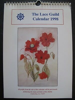 THE LACE GUILD CALENDAR 1998 with 12 patterns