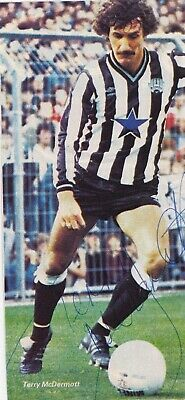 TERRY McDERMOTT (Newcastle United & Liverpool FC) Hand SIGNED Picture