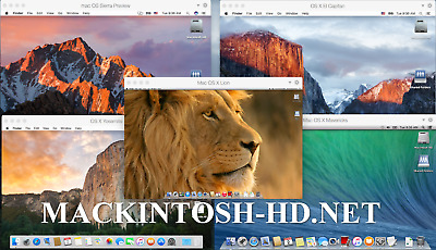 MAC OS X leopard lion mavericks yosemite sierra mojave DMG for install/update