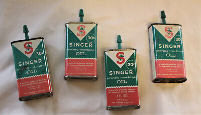Vintage Singer Sewing Machine Oil-Handy Oiler Can 4 fl Oz.-30 cents