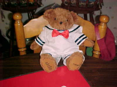 "Cape May Teddy Bear Company Jointed 16"" Moveable Teddy in Sailor Suit"