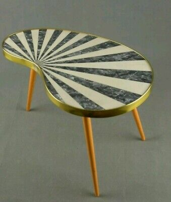 Funky Vintage Striped Side Table/Plant Stand - Mid century 1950's 1960's Danish