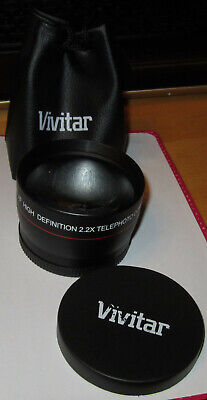 Vivitar Lens HD4 MC AF High Definition 2.2x Telephoto Converter 1090317 Complete