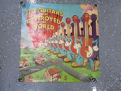 """Vintage """"The Guitars That Destroyed The World"""" Poster Very Old & Very Rare Find"""