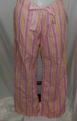 XHILARATION Women's Pink Stripe Cotton Sleepi Pants Size XL NWT