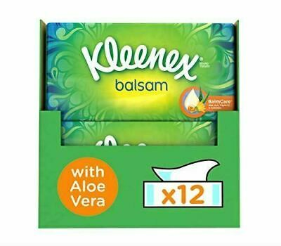 2 x Kleenex Balsam Facial Tissues, Pack of 6 Tissue Boxes