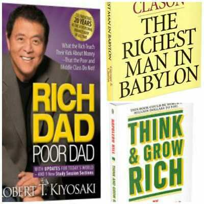 Rich Dad Poor Dad +The Richest Man in Babylon +Think and grow rich[3x1] pdf🔥