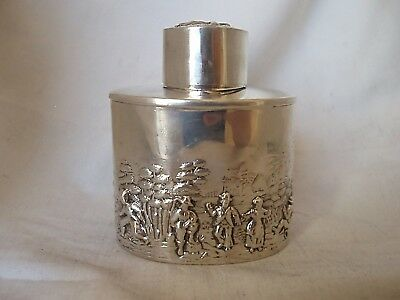 Tea Caddy Edwardian Sterling Silver Chester 1908