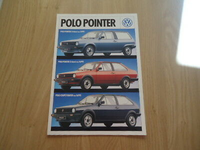 Volkswagen Polo Pointer Brochure / Prospekt