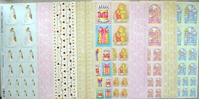 5 Sheets 305 x 117mm Self Adhesive Creative Pictures & Borders in Various Themes
