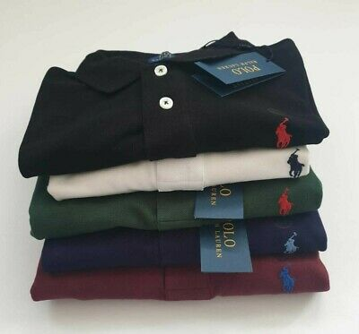 Ralph Lauren 100% Authentic  Short Sleeve Custom Slim Fit Polo Shirts For Men's