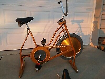 c378863d718 Vintage Schwinn XR7 Exercise Bike Gold/Copper Excellent 3 seats LOCAL  PICKUP NC