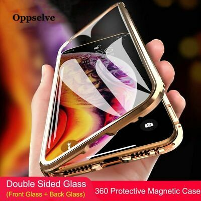 Double Sided Glass Magnetic Adsorption Phone Case For iPhone XR XS Max X 8 7 New