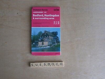 Os Ordnance Survey Landranger Map 153 - Bedford, Huntingdon & Surrounding - 1988