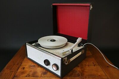 Dansette Popular Portable Record Player Vintage 1960's Valve 16 33 45 78 rpm