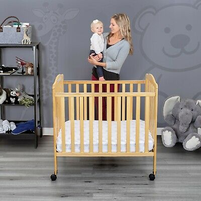 Fizzy Portable Mini  Crib Wood Design Adjustable