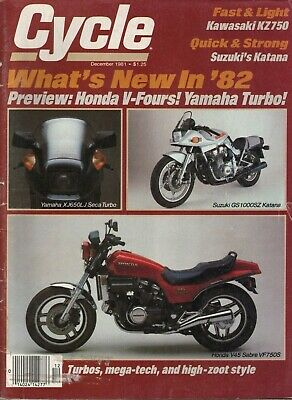 1981 December Cycle Motorcycle Magazine Back-Issue