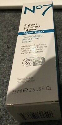 No 7 PROTECT & PERFECT INTENSE Advanced Daily Hydration Hand Nail Cream 75ml New
