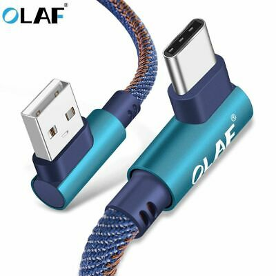 USB Type C 90 Degree Fast Charging usb cable Type-c data Cord Charger OLAF New