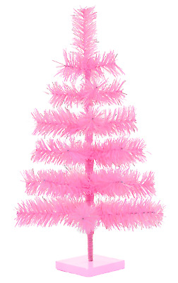 24'' Pink Barbie Tinsel Tree Christmas Holiday Tree 2FT Table-Top XMASS