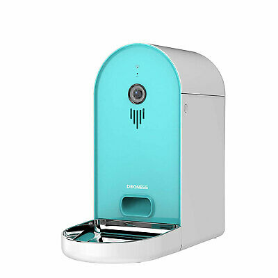 Dogness Smart Cam Feeder Automatic Pet Food Dispenser with Camera, Tiffany Blue