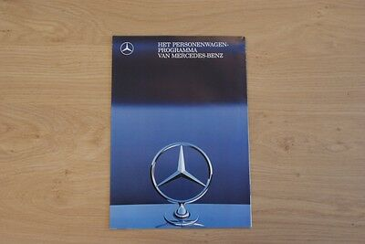 Mercedes-Benz Car Programm Brochure / Prospekt 1988