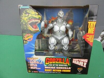 "1994 King Of Monsters 9"" GIANT MECHA-GODZILLA Vinyl Figure MIB w/ROAR, Sensor"