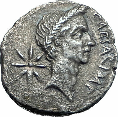 JULIUS CAESAR Lifetime Portrait 44BC Rome Ancient Silver Roman Coin NGC i77659