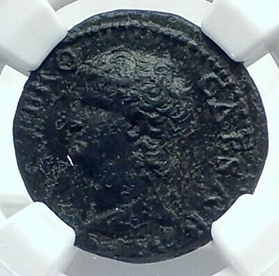 NERO Authentic Ancient 66AD Lugdunum Lyons Genuine Roman Coin ROMA NGC i77654