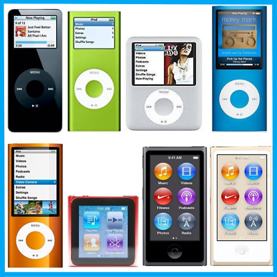 Apple iPod Nano 2nd 3rd 4th 5th 6th Generation 4GB 8GB 16GB - Black Blue Silver