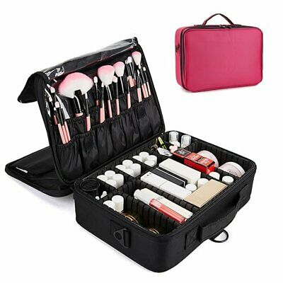 Multifunctional Cosmetic Case Travel Tolietry Bag Extra Makup Organiser Large