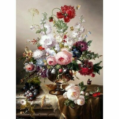 Full Square Diamond 5D DIY Painting Flowers Hand Embroidery Cross Stitch Kit New