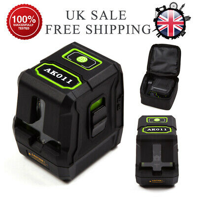 2-Line Self-Levelling Laser Level Green 360° Rotary Vertical Horizontal Measure