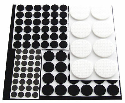 125 Anti Skid Rubber Felt Pads Furniture Protector Feet Multi Surface Wood Metal